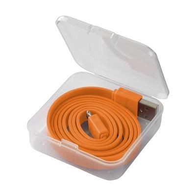2-IN-1 CABLE XL CHARGER CABLE in Orange