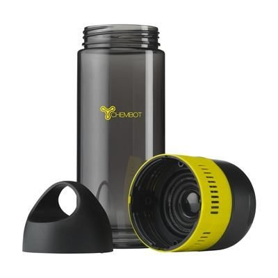 Picture of BOTTLEBEATZ TRITAN 2-IN-1 DRINK BOTTLE with Speaker in Yellow