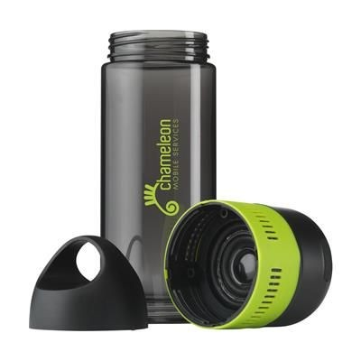Picture of BOTTLEBEATZ TRITAN 2-IN-1 DRINK BOTTLE with Speaker in Lime
