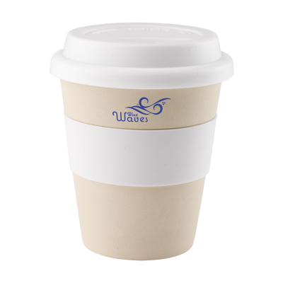 Picture of ECO BAMBOO MUG-TO-GO CUP in White