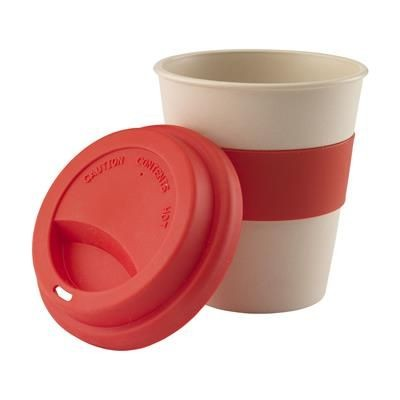 Picture of ECO BAMBOO MUG-TO-GO CUP in Red
