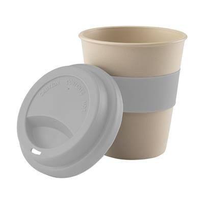 Picture of ECO BAMBOO MUG-TO-GO CUP in Light Grey