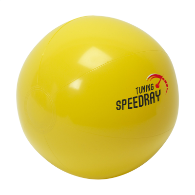 Picture of BEACHBALL SOLID 40 CM in Yellow