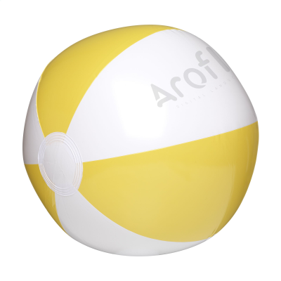 Picture of BEACHBALL 28 CM in White-yellow