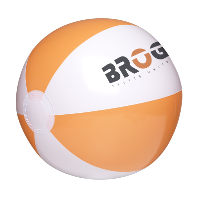 Picture of BEACHBALL 28CM in White & Orange