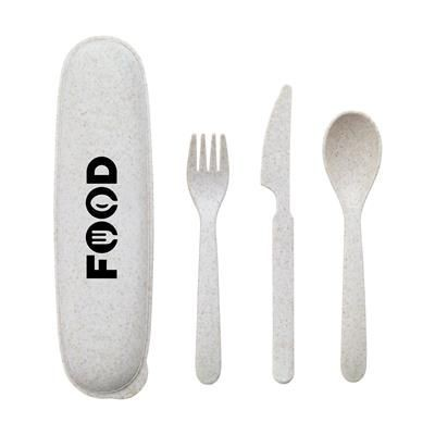 Picture of ECO GUSTO WHEAT STRAW CUTLERY SET