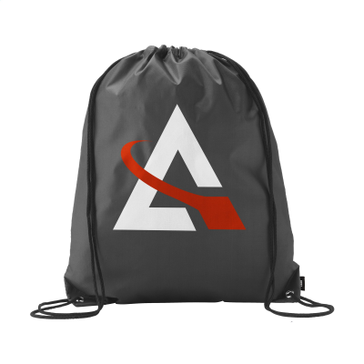 Picture of PROMO RPET BACKPACK RUCKSACK in Black