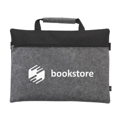 Picture of DOCUTRAVEL FELT RPET DOCUMENT BAG in Grey