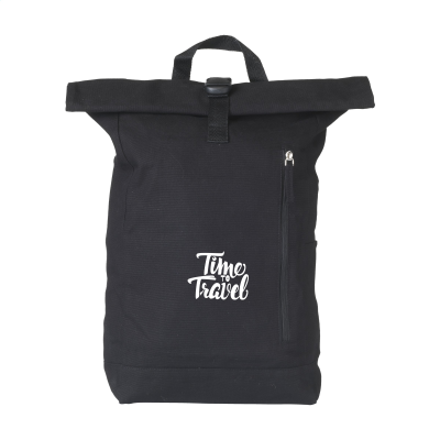 Picture of NOLAN CANVAS BACKPACK RUCKSACK in Black