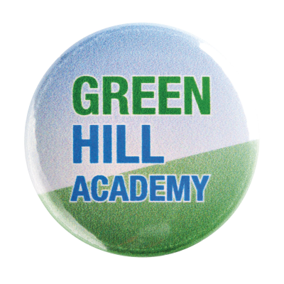 Picture of 25mm METAL BUTTON BADGE in Silver