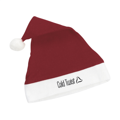 Picture of POLYESTER FATHER CHRISTMAS SANTA HAT in Red