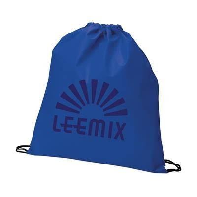 Picture of NON WOVEN DRAWSTRING BACKPACK RUCKSACK in Blue