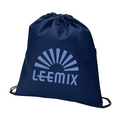 Picture of NON WOVEN DRAWSTRING BACKPACK RUCKSACK in Dark Blue