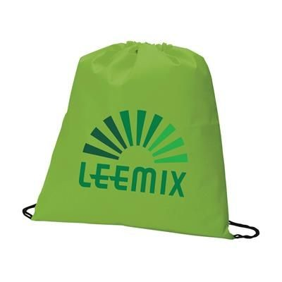 Picture of NON WOVEN DRAWSTRING BACKPACK RUCKSACK in Lime