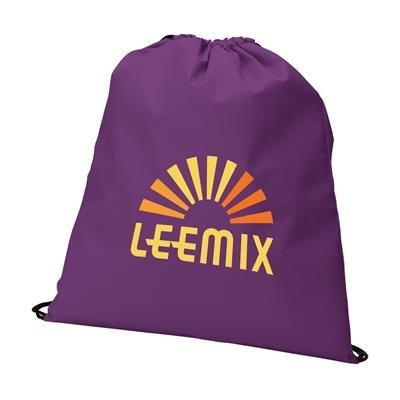 Picture of NON WOVEN DRAWSTRING BACKPACK RUCKSACK in Purple