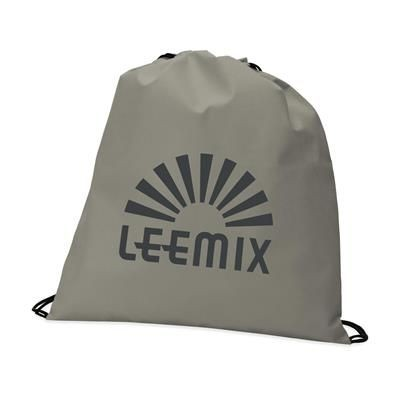 Picture of NON WOVEN DRAWSTRING BACKPACK RUCKSACK in Grey