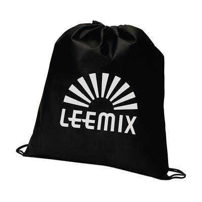 Picture of NON WOVEN DRAWSTRING BACKPACK RUCKSACK in Black
