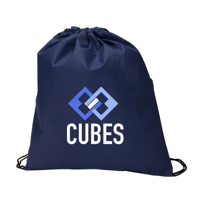 Picture of NON-WOVEN PROMOBAG BACKPACK RUCKSACK in Dark Blue