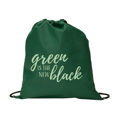 Picture of NON-WOVEN PROMOBAG BACKPACK RUCKSACK in Green
