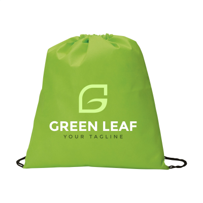 Picture of NON-WOVEN PROMOBAG BACKPACK RUCKSACK in Lime