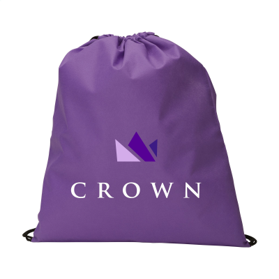 Picture of NON-WOVEN PROMOBAG BACKPACK RUCKSACK in Purple