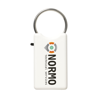 Picture of SAFE KEYRING in White