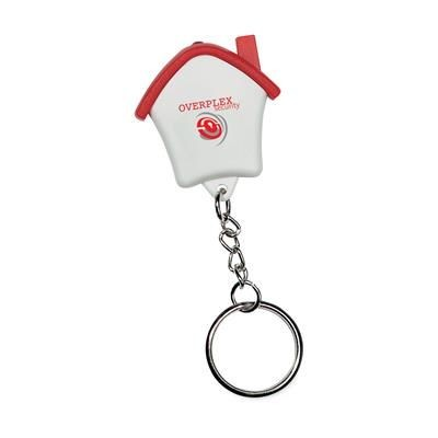 Picture of HOME LITE HOUSE SHAPE PLASTIC KEYRING in Red