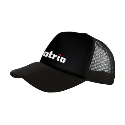 Picture of TRUCKER CAP in Black & Black