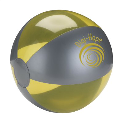 Picture of BEACHBALL Ø 24 CM in Silver & Yellow