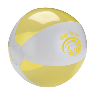 Picture of BEACHBALL Ø 24 CM in White & Yellow