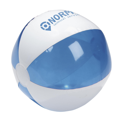 Picture of BEACH BALL 24CM DIA in White & Blue