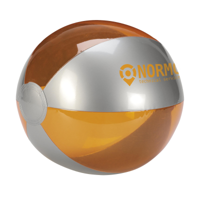 Picture of BEACH BALL 24CM DIA in Silver & Orange