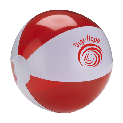 Picture of BEACHBALL Ø 24 CM in White & Red