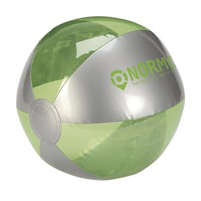 Picture of BEACH BALL 24CM DIA in Silver & Green