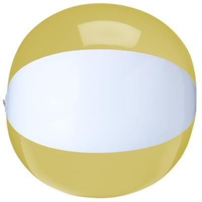Picture of BEACHBALL Ø 30 CM in White & Yellow