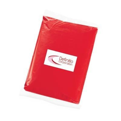 Picture of EMERGENCY RAIN PONCHO in Red