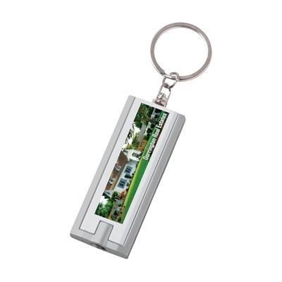Picture of FLAT SCAN KEYRING in White