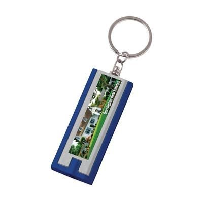 Picture of FLAT SCAN KEYRING in Blue