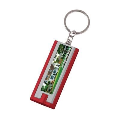 Picture of FLAT SCAN KEYRING in Red