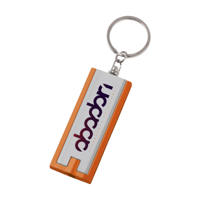 Picture of FLATSCAN KEYRING in Silver & Orange