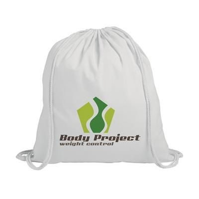Picture of PROMO COLOUR BACKPACK RUCKSACK in White