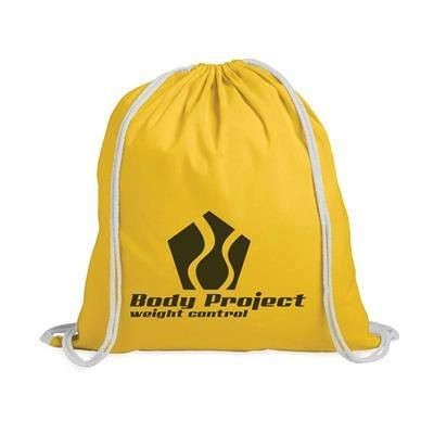 Picture of PROMO COLOUR BACKPACK RUCKSACK in Yellow
