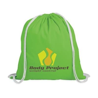 Picture of PROMO COLOUR BACKPACK RUCKSACK in Lime