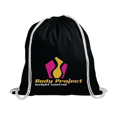 Picture of PROMO COLOUR BACKPACK RUCKSACK in Black
