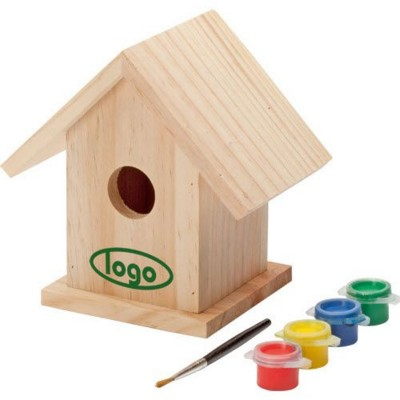 Picture of BIRDY PAINT WOOD BIRD HOUSE