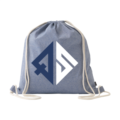 Picture of RECYCLED COTTON PROMOBAG BACKPACK RUCKSACK in Blue