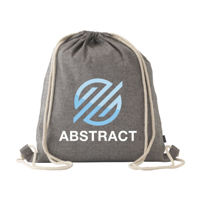 Picture of RECYCLED COTTON PROMOBAG BACKPACK RUCKSACK in Black