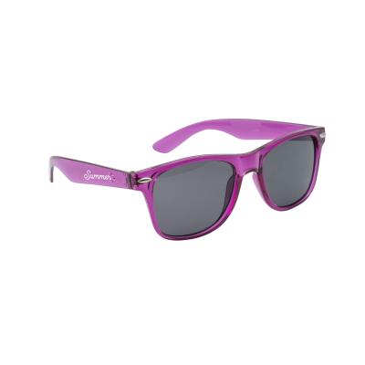 MALIBU TRANS SUNGLASSES in Transparent Purple