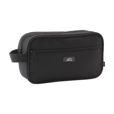 Picture of COSMETICS BAG RPET TOILETRY BAG in Black