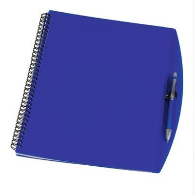 Picture of A4 SPIRAL WIRO BOUND NOTE BOOK in Clear Transparent Blue